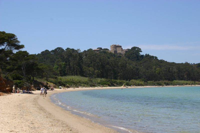 La-plage-de-la-Courtade-Le Team location vélos porquerolles